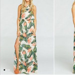 Show Me Your Mumu Paradise Heather Halter Dress